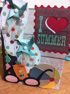 Another Kathy Orta inspired scrapbook. Paper by simple stories I heart summer.