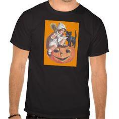 Witch Black Cat Jack O Lantern T-shirts