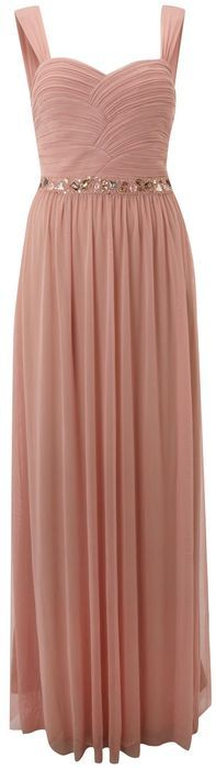 js-collections-pink-beaded-ruched-bodice-dress