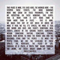 THIS IS SHEFFIELD! (poem, design, commission by @Anna Totten Totten Roberts @Simon Starr Starr Blois @tnrfridays on IG) #socialsheffield #sheffield