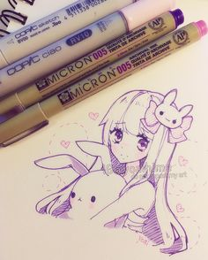 .....(´Д` ) so much to do...so little time.... #copic #micron #sketch