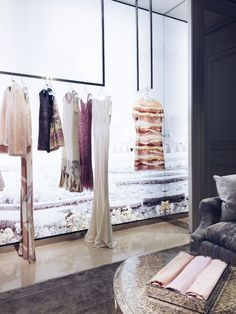 Walking into the street Dior Boutique is like entering a fashion dream. Christian Dior is one of our go-to designers and now that Raf Simons has stepped Dior Store, Dior Boutique, Price Model, Shop Till You Drop, Coral Gables, Wardrobe Rack, Spotlight, Drawers, Hanger