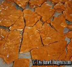 Budget101.com - - 10-minute Peanut Brittle | Easy Candy Recipes for Gift Giving