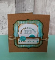 Fathers Day card made using docrafts.com free printables