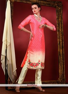 Vivacious Art Silk Pink Designer Suit