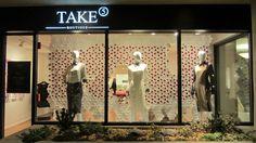 Take 5 Boutique Valentine's Day Window Display