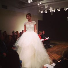 Lazaro wedding dress. Love the layers of tulle. PERFECTION
