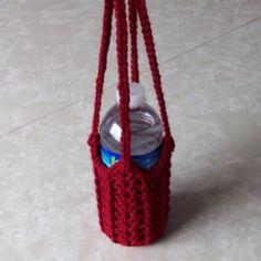 crochet pattern for water bottle cozy