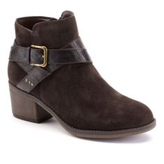 SONOMA life   style® Women's Buckle Suede Ankle Boots