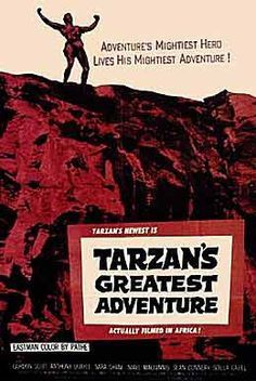 TARZAN'S GREATEST ADVENTURE (1959) One of the best Tarzan films stars Gordon Scott as Tarzan who is paired with an actual interesting woman reporter instead of Barbie dolls. Great villains with Anthony Quayle and pre Bond Sean Connery make this gritty on location adventure truly great. Tarzan Actors, Tarzan Movie, I Movie, Greatest Adventure, Adventure Time, Movies To Watch, Good Movies, Flame Princess, Princess Aurora