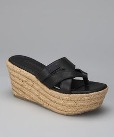 Take a look at this Black Cori Wedge Espadrille by Calvin Klein Jeans on #zulily today!