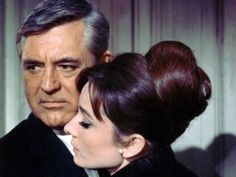 Audrey Hepburn and Gary Grant {Charade movie~1963}- Audrey has the best updos
