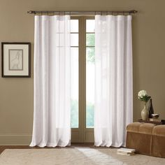 Cambria® Terra X-Inch Rod Pocket Sheer Window Curtain Panel in