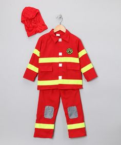 Take a look at this Red Firefighter Dress-Up Set - Kids by Dress Up America on #zulily today!
