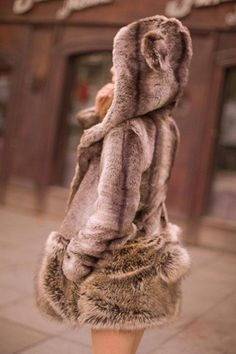 Lovely Bear '''FAUX''' Fur Coat, the faux is very important..