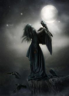 The Raven, messenger of Secrets, prophets, Spell-casters, and some say they are Witches of the past traveling between the worlds…