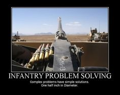 Army Guns | military-humor-funny-joke-infantry-problem-solving-gun