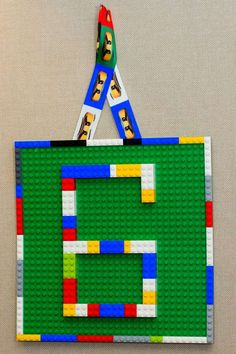 Lego number birthday sign at a Lego Ninjago birthday party! See more party planning ideas at CatchMyParty.com!