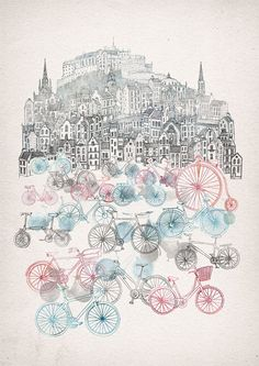 Byzantium & Edinburgh Art by David Fleck