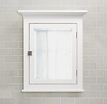 restoration hardware cartwright wall mount medicine cabinet white $229