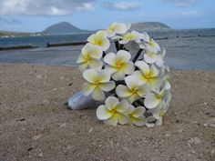 plumeria bridal bouquets - like this one with sparkles