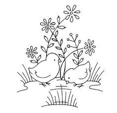 Folk Embroidery Patterns Vintage Easter Chicks pattern for embroidery ~ 1 of 2 Baby Embroidery, Vintage Embroidery, Embroidery Stitches, Machine Embroidery, Embroidery Tools, Embroidery Transfers, Hand Embroidery Designs, Embroidery Patterns, Cross Stitch Patterns