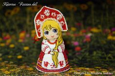 Katerina-Russian doll double sided toy  Cross by AntoninaDesign
