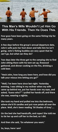 This man's wife was not allowing him to go with friends and then this happened…(Click to Enlarge), - Likes