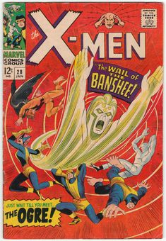 For sale marvel comics x-men 28 first banshee stan lee silver age comic book emorys memories. Marvel Comic Books, Comic Books Art, Comic Art, Book Art, X Men, Univers Marvel, Old Comics, Vintage Comics, Back In The 90s