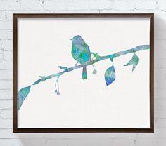 Robin Bird Bird Wall Art Bird Art Print Bird by MiaoMiaoDesign
