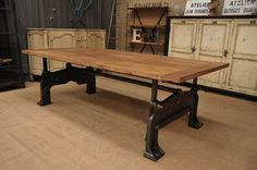 """Industrial Foucher PARIS"""" Dining Table """" From FarFetchers.com"""
