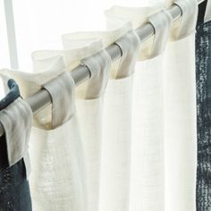 Shop for Aurora Home Colorblock Border Linen Blend Curtain Panel Pair - 52 x Get free delivery On EVERYTHING* Overstock - Your Online Home Decor Outlet Store! Home Curtains, Panel Curtains, White Spruce, Window Privacy, Home Decor Outlet, Color Blocking, Aurora, Living Spaces, How To Memorize Things