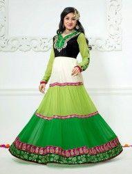 Paridhi Sharma Green Colour Georgette Anarkali Salwar Kameez at $63.64 only