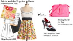 Cute site that matches store-bought clothes to fabrics + patterns you can make yourself. Mostly vintage + retro styles.