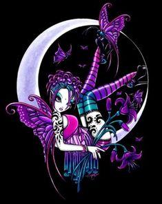 myka jelina drawings | NEM2917 Art Tile Paige - Fantasy Fairy Art Tile by Myka Jelina By ...
