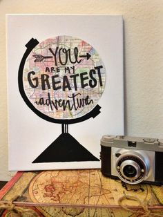 You Are My Greatest Adventure Quote Canvas Art - Design .- Du bist mein größtes Abenteuer Zitat Leinwand Kunst – Design your world – You are my greatest adventure Quote Canvas Art – Design your world – # biggest - Canvas Painting Quotes, Canvas Quotes, Diy Canvas Art, Painted Canvas, Canvas Ideas, Bf Gifts, Love Gifts, Boyfriend Canvas, Boyfriend Ideas