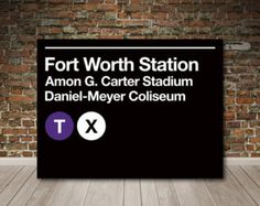 Fort Worth, Texas Subway Sign Canvas Wall Art
