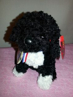 f6b49d7d680 Ty Beanie Baby Babies Bo the Portuguese Water Dog - President Obama Sealed  Code