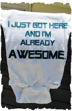 I can't WAIT to make this for little baby Warren! He IS already so awesome!!!