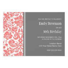 Gather guests with amazing birthday invitations from Zazzle! Birthday party invitations in a range of themes! 35th Birthday, 30th Birthday Parties, Birthday Woman, Birthday Party Invitations, Birthday Party Themes, 30th Birthday Ideas For Women, Popular Birthdays, Street Names, You Are Invited