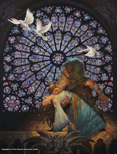 Esmeralda and the hunchback of Notre Dame ~~ SANCTUARY BY CHRIS SEAMAN