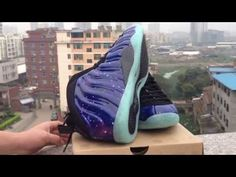"""Nike Air Foamposite Pro """"Galaxy"""" army fighter jet stealth rookie"""