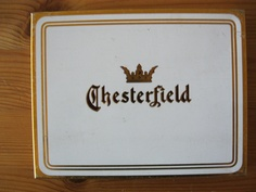 CHESTERFIELD Cigarette tin 50 cigs Chesterfield Cigarettes, Tins, Tin Cans