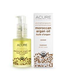 aromatherapeutic coconut argan oil