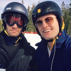 Dom and Nick on the slopes at Tahoe - February 2016
