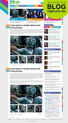 Premium Magazine Blog Template PSD Free Psd