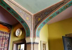 Olana – Court Hall spandrels with decorative painting