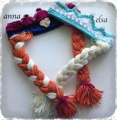 Winter hats. Both Elsa. Frozen Inspired Custom Made Anna and Elsa by KARASKREATIONSbykara, $20.00