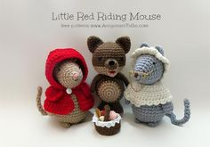 Download Little Red Riding Mouse Amigurumi Pattern (FREE)