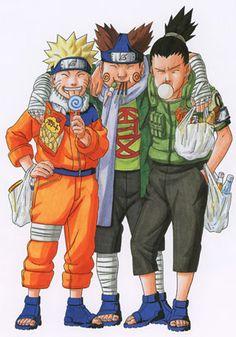 Naruto, Choji and Shikamaru. I love this piece of Naruto artwork, it truly is amazing. Naruto Uzumaki Shippuden, Naruto Kakashi, Anime Naruto, Boruto, Manga Anime, Naruto Teams, Naruto Fan Art, Naruto Cute, Hinata